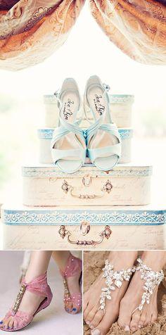 Zapatos de novia para bodas en la playa