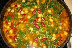 Arabische Kichererbsen-Spinat Suppe, ein gutes Rezept aus der Kategorie Eintopf. Bewertungen: 273. Durchschnitt: Ø 4,3.
