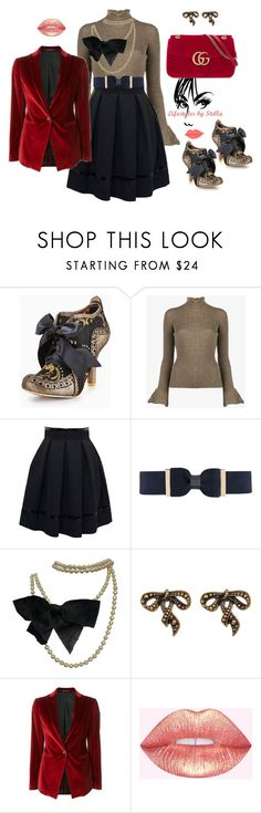 """""""Untitled #134"""" by lifestylesbystella on Polyvore featuring Irregular Choice, Acne Studios, Tamara Mellon, City Chic, Chanel, Marc Jacobs, Tagliatore and Gucci"""