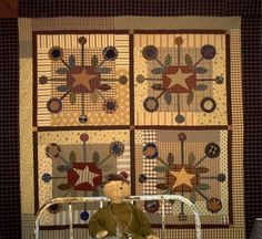 PPL030 The Bundling Board-pieced/appliqued quilt - Primitive Pieces by Lynda - absolutely gorgeous!!!!!!!