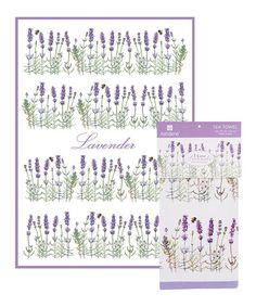 Look what I found on #zulily! Lavender Tea Towel #zulilyfinds