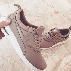 Blush pink Nike shoes