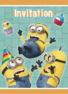 Despicable Me Party Invitations