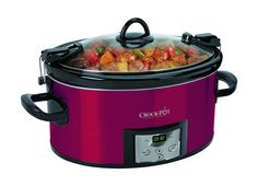 Crock-Pot SCCPVL610-R-A Programmable Cook and Carry Oval Slow Cooker, Digital Timer, Red *** See this great product.