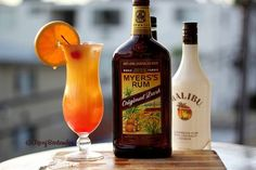 Bahama Mama Cocktail - For more delicious recipes and drinks, visit us here: www.tipsybartender.com