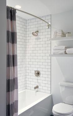 Peerless Faucet Tub and Shower Trim - Less Head, Brushed Nickel - Bathroom Ideas Bathtub Shower Combo, Bathroom Tub Shower, Shower With Tub, Dyi Bathroom, Shower Tiles, Subway Tile Showers, Concrete Bathroom, Vanity Bathroom, Budget Bathroom