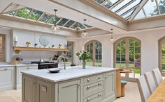 conservatory covering kitchen window with contemporary kitchen conservatory with cottage kitchen conservatory - Kitchen Conservatory Ideas Orangery Extension Kitchen, Kitchen Orangery, Arched Doors, Arched Windows, Conservatory Kitchen, Conservatory Ideas, Open Plan Kitchen Living Room, Kitchen Images, Kitchen Designs