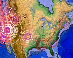 Seismic Plate Pressure Building along Faults on East, West and Southern US