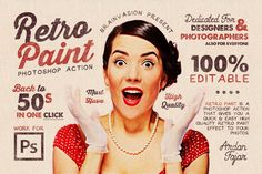 Retro Paint - Photoshop Action by Brainvasion on Creative Market