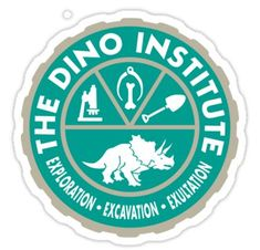 """""""Dino Institute """" Stickers by Jessica Kelly Diy Disneyland Shirts, Jessica Kelly, Disney Dinosaur, Disney Posters, Bow Design, Disney Diy, Transparent Stickers, Glossier Stickers, Vinyl Decals"""