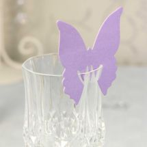 Lilac Butterfly Place Cards designed to elegantly on the top of your glass