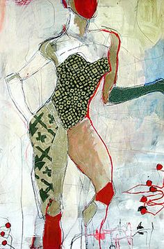 I'm digging Jylian Gustlin's Stitched Artwork...anything depicting women always lures my attentive eye