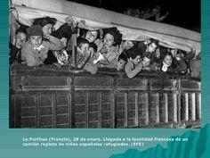 Le Perthus (Francia), 28 de enero. Llegada a la localidad francesa de un camión repleto de niños españoles refugiados. (EF...