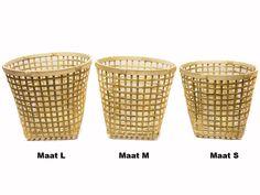 Mand bamboe naturel in 3 maten vanaf € 7,75