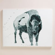 Known for his whimsical drawings of animals, Arizona-native Ben Gordon's work exudes a distinctive southwestern feel, as seen in this monochromatic piece.