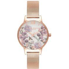 280165291 Women s Olivia Burton Enchanted Garden Bee Blooms Mesh Bracelet Watch