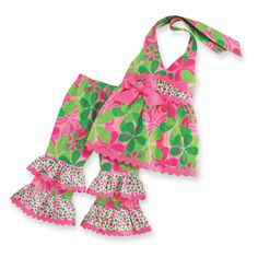 Mud Pie Floral Halter Pants Set only $25.99 - New Items