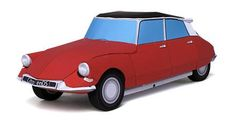Citroen DS Paper Cars - by Ichiyama`s Paper Cards -- In this Japanese site you will find these cool Citroen Ds paper cars, in several colors and textures. These little vehicles are in 1/30 scale.