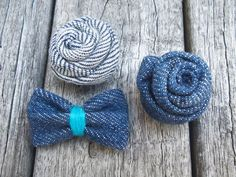 Denim Men Lapel  Denim Bow Lapel  Blue Lapel by KenBoutonniere