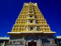Chamundeshwari Temple, #Mysore - I visited Chamundeshwari temple in Mysore. This #temple is situated on the Chamundi Hills. It is named after the Chamundeshwari as known as Goddess Durga. It is especially dedicated to Goddess Shakti, thus known as Shakti Peetha. If you Praise Maa Durga then this temple is a must visit for you. #trip #destinations #attraction #wanderlust