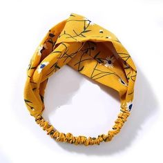 Material: polyesterApplicable season: four seasonsFeature: DecorateType: Cross Knot HeadbandPattern Type: Floral Yellow Accessories, Hair Accessories For Women, Fashion Accessories, Accessories Online, Yellow Jewelry, Hairband, Knot Headband, Hair Knot, Twist Headband