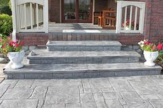 Biondo Cement - Walkways Gallery / 24-Grey-Slate-Decorative-Concrete-Steps-in-Harrison-MI.jpg