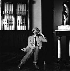 Andy Warhol at the Factory, 1981, photograph by Marcus Leatherdale. I am a…