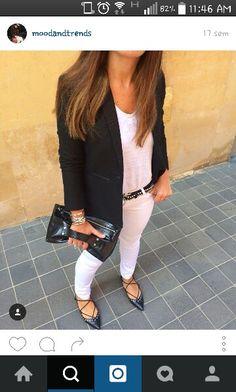 Strappy Flats, White Jeans, Pants, Fashion, Trouser Pants, Moda, Fashion Styles, Women's Pants, Women Pants