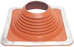 Square Base Pipe Flashing 8 Red Silicone, Pipe Range: 6-3/4' - 13-1/2' (140mm-292mm) * To view further for this item, visit the image link.