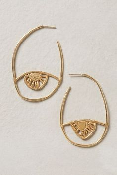 love the simplicity and organic feel to these gold earrings