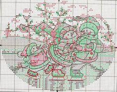 """Милые сердцу штучки: Новогодняя вышивка: """"Игривые снеговики от Dimensions"""""""
