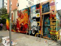 Urban Street Art | Eduardo Kobra painter – urban street art chicquero – Mural Brazil ...