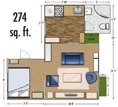 Studio Apartments Floor Plan Square Feet Location Los