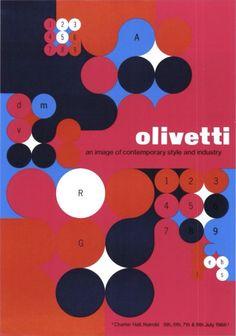 Olivetti Poster - Designed by Anna Monika Jost - 1966