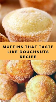 MUFFINS THAT TASTE LIKE DOUGHNUTS RECIPE What you need: cup sugar 1 large egg 1 cups all-purpose flour 2 tsp baking power tsp salt tsp ground nutmeg cup vegetable oil cup milk 1 tsp vanilla extract 2 Tbsp butter, melted Köstliche Desserts, Delicious Desserts, Dessert Recipes, Yummy Food, Donut Recipes, Muffin Recipes, Bread Recipes, Recipes With Cake Flour, Coffecake Recipes