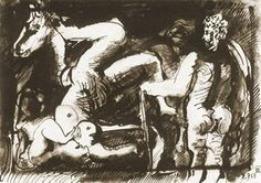 Pablo Picasso. The fall of the rider III, 1967