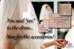 Wedding Jewelry for the bride - Beautiful and inexpensive - available at www.paparazziaccessories.com/43619/
