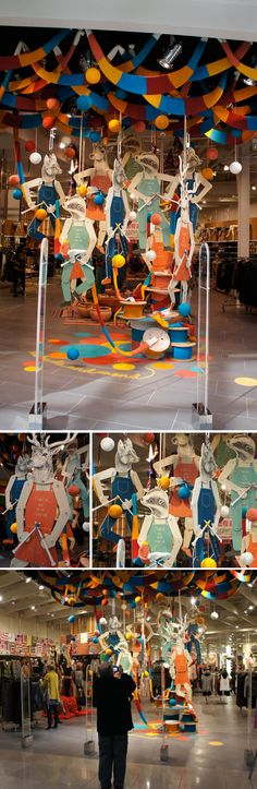 Sportsgirl has taken the chill off Melbourne's winter with a clever, colourful knitted installation of woodland characters. Designed by the uber-talented Amanda Henderson and her team at Gloss Creative,
