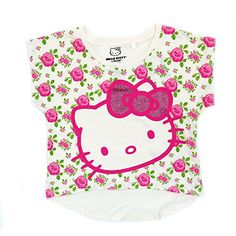 Hello Kitty Floral Print Glitter Top- Girls (Medium) Hello Kitty http://www.amazon.com/dp/B00MP0RIUI/ref=cm_sw_r_pi_dp_O1Eewb0FX9Q7P