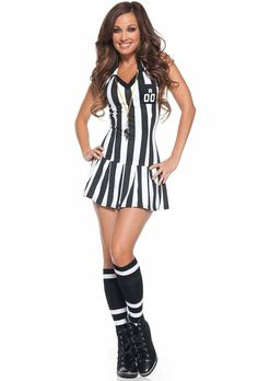 ref costumes for women | Sultry Referee Costume | Sports Costumes For Women | Fierce Costumes