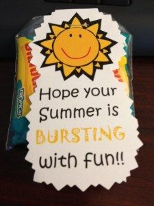 End of School Year Treat Summer is bursting with fun starburst