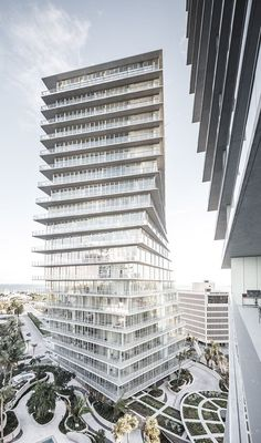 Grove at Grand Bay where BIG architecture meets Raymond Jungles landscape Modern Architecture House, Facade Architecture, Modern Buildings, Amazing Architecture, Landscape Architecture, Landscape Design, Condominium Architecture, Bjarke Ingels Architecture, Big Architects