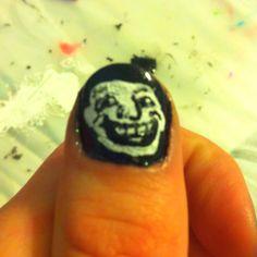 Troll face nails :)