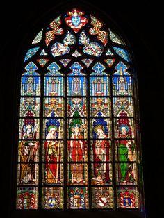 Description: Brussels, Belgium: Église Notre Dame du Sablon (Church of Our Lady of Sablon): window (1861, Samuel Coucke)