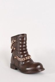Quilted Draped Water Resistant Chain Bootie