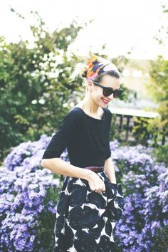 Black-white Skirt, black shirt via Tales of Endearment