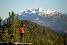 Tantalus viewpoint. 10 km past Squamish on the way to Whistler, canada. Sea to Sky highway Guide