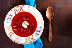 Rote-Beete-Tomaten-Suppe
