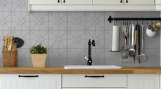 NC232882 - Dove Manor Anthology Pressed Metal, Tiles, Kitchen Cabinets, Home Decor, Room Tiles, Decoration Home, Room Decor, Tile, Kitchen Base Cabinets