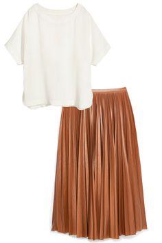 H&M top, $50, hm.com; Mango skirt, $90, mango.com.